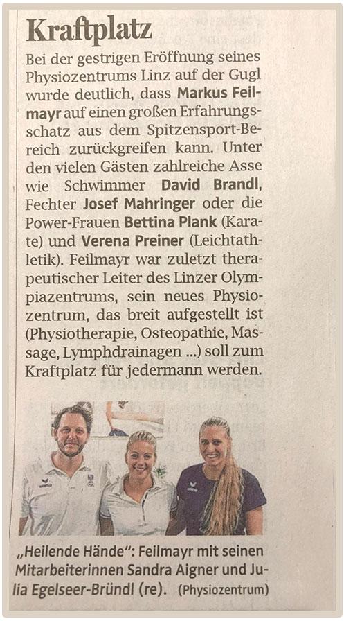 OOEN_Dez 2018 Eröffnung Physiozentrum