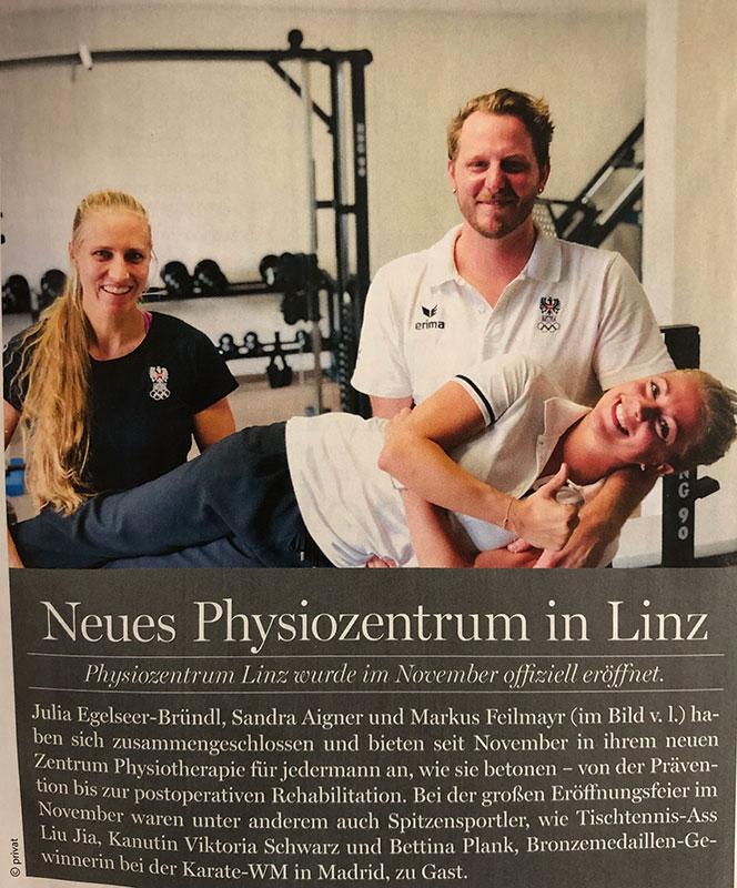 Oberoesterreicherin Dez2018, Eröffnung Physiozentrum