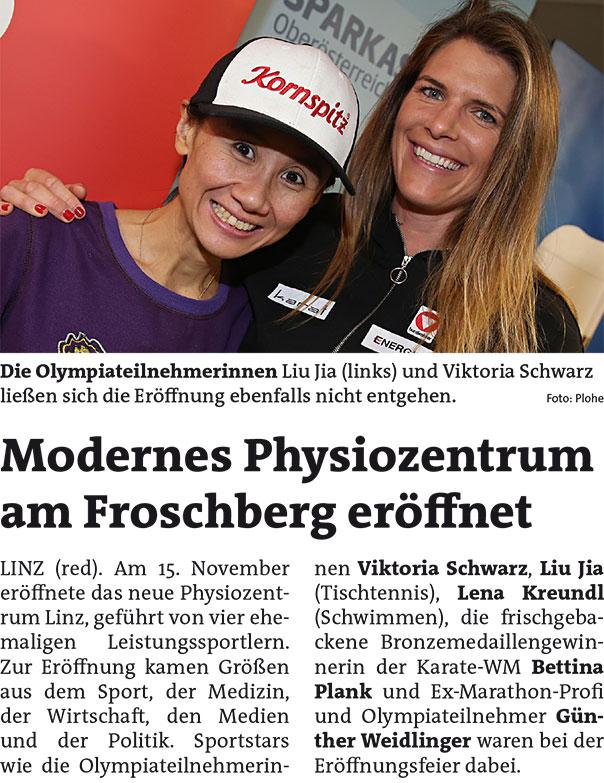 Rundschau Nov 2018, Eröffnung Physiozentrum